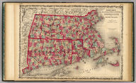 Johnson's Massachusetts Connecticut And Rhode Island By Johnson & Browning. No. 18-19.