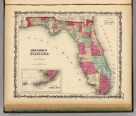 Johnson's Florida By Johnson & Browning. (with) Plan Of The Florida Keys. No. 30.