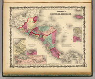 """Johnson's Central America By Johnson & Browning. (with) five inset maps: Isthmus of Panama, Harbor Of San Juan De Nicaragua, The """"Nicaragua Route"""", Manzanilla I. Aspinwall City Navy Bay, and the City of Panama. No. 50."""