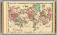 Johnson's Map Of The World on Mercator's Projection. Published by Johnson & Browning. New York & Washington. No. 56-57.