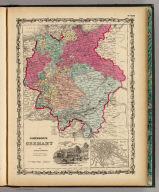 Johnson's Germany By Johnson & Browning. (with) inset map of Berlin. No. 69.