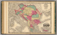 Johnson's Austria Turkey In Europe And Greece. By Johnson & Browning. (with) inset map of Candia. No. 72-73.