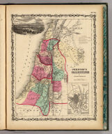 Johnson's Palestine By Johnson & Browning. (with) inset map of Jerusalem. No. 75.