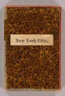 (Covers to) Watson's New Map Of New-York And Adjacent Cities. Published By Gaylord Watson, 16 Beekman St. 1874. Entered ... 1869, by Gaylord Watson ... New York. (inset) Map showing the Hudson River And Adjoining Country.
