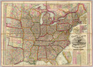 Watson's New County and Railroad Map of the United States and the Dominion of Canada Compiled From the Latest Official Sources, 1874. Published by Gaylord Watson, 16 Beekman St., New York. Entered ... 1871, by Gaylord Watson ... Washington. (with) 5 inset maps: Routes of the Union, Central & Kansas Pacific Railroad, Vicinity of Boston, Vicinity of Philadelphia, Vicinity of New York, Lower Part of Florida.