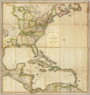 A Correct Map of the United States, With The West Indies, from the best Authorities by Samuel Lewis 1817. 2nd Edition. Containing the Seat of War &c. Published by T.L. Plowman, Philadelphia, 1813. Entered ... 22nd Mar.