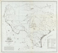 Map of Texas and part of New Mexico compiled in the Bureau of Topgraphl. Eng'rs. chiefly for military purposes, 1857 ... Lith. of Ritchie & Dunnovant. Printed at H.F. Walling's Map Establishment, 90 Fulton St., New York.