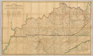 Military Map of the States of Kentucky and Tennessee.
