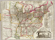 Watson's new rail-road and distance map of the United States and Canada.
