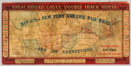 Map of the New York and Erie Rail Road and its connections. The most direct route between New York and all Eastern & Western cities & towns. J.H. Colton & Co. Great broad gauge double track route ... Engraved, printed and mounted by J.H. Colton & Co., 172 William St., N. York. Entered ... 1856, by J.H. Colton ... New York.