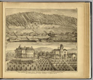 Coal works of O'Neil & Co ... (with) Residence of J.N. O'Neil esq., residence of Wm. W. O'Neil esq., Elizaeth, Allegheny Co., Pa. (... compiled & drawn for the publishers by E.L. Hayes, assisted by E.F. Hayes, C.M. Beresford, assisted by S.A. Charpiot, F.L. Sanford, J.H. Sherman. Published by Titus, Simmons & Titus ... Phila. 1877. Eng. by Worley & Bracher ... Printed by H.J. Toudy & Co. ... Oldach & Mergenthaler Binders ...)