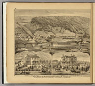 Coal works of Wm. Stone's heirs and Coal Valley Coal Co. ... opposite McKeesport, Pa. (with) Residence of Capt. Wm. Stone. (with) Residence of Jos. A. Stone Esq., McKeesport, Pa. (... compiled & drawn for the publishers by E.L. Hayes, assisted by E.F. Hayes, C.M. Beresford, assisted by S.A. Charpiot, F.L. Sanford, J.H. Sherman. Published by Titus, Simmons & Titus ... Phila. 1877. Eng. by Worley & Bracher ... Printed by H.J. Toudy & Co. ... Oldach & Mergenthaler Binders ...)