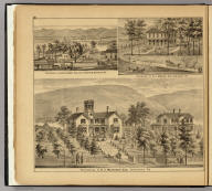 Residences of H.J. Murdoch Esq., Sewickley, Pa. (with) Residence of A.P. Lacook Esq. near Freedom, Beaver Co., Pa. (with) Residence of W.J. Means Esq., Sewickley, Pa. (... compiled & drawn for the publishers by E.L. Hayes, assisted by E.F. Hayes, C.M. Beresford, assisted by S.A. Charpiot, F.L. Sanford, J.H. Sherman. Published by Titus, Simmons & Titus ... Phila. 1877. Eng. by Worley & Bracher ... Printed by H.J. Toudy & Co. ... Oldach & Mergenthaler Binders ...)