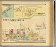 Bridgewater Borough ... (with) Shippingport ... (with) Georgetown ... (all) Beaver Co., Pa. (... compiled & drawn for the publishers by E.L. Hayes, assisted by E.F. Hayes, C.M. Beresford, assisted by S.A. Charpiot, F.L. Sanford, J.H. Sherman. Published by Titus, Simmons & Titus ... Phila. 1877. Eng. by Worley & Bracher ... Printed by H.J. Toudy & Co. ... Oldach & Mergenthaler Binders ...)