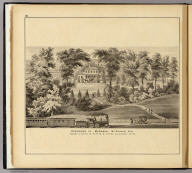 Residence of Marshall McDonald Esq., Osburn Station on P. Ft. W. & C.R. W., Allegheny Co., Pa. (... compiled & drawn for the publishers by E.L. Hayes, assisted by E.F. Hayes, C.M. Beresford, assisted by S.A. Charpiot, F.L. Sanford, J.H. Sherman. Published by Titus, Simmons & Titus ... Phila. 1877 ... Printed by H.J. Toudy & Co. ... Oldach & Mergenthaler Binders ...)