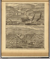 Wood, Shrader & Co. coal works, Pool No. 2, Monongahela River, Allegheny Co., Pa. (with) Coal works of Foster, Clark & Wood, Pool No. 2, Monongahela River, near McKeesport, Pa. (... compiled & drawn for the publishers by E.L. Hayes, assisted by E.F. Hayes, C.M. Beresford, assisted by S.A. Charpiot, F.L. Sanford, J.H. Sherman. Published by Titus, Simmons & Titus ... Phila. 1877 ... Printed by H.J. Toudy & Co. ... Oldach & Mergenthaler Binders ...)