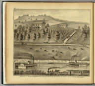 Residence of William Schrader Esq., Lincoln Tw'p., near Elizabeth, Allegheny Co., Pa., 20 miles from Pittsburgh. (... compiled & drawn for the publishers by E.L. Hayes, assisted by E.F. Hayes, C.M. Beresford, assisted by S.A. Charpiot, F.L. Sanford, J.H. Sherman. Published by Titus, Simmons & Titus ... Phila. 1877 ... Printed by H.J. Toudy & Co. ... Oldach & Mergenthaler Binders ...)