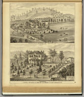 """Residence of D.S. Anderson Esq. ... (with) """"Elmwood"""" formerly residence of Mrs. Dr. J.C. Murray, deceased ... (both) Sewickley, Pa. (... compiled & drawn for the publishers by E.L. Hayes, assisted by E.F. Hayes, C.M. Beresford, assisted by S.A. Charpiot, F.L. Sanford, J.H. Sherman. Published by Titus, Simmons & Titus ... Phila. 1877 ... Printed by H.J. Toudy & Co. ... Oldach & Mergenthaler Binders ...)"""