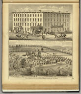 Robinson House, R.J. McAndlis, proprietor, cor. of DuQuesne Way & 7th St., Pittsburgh, Pa. (with) Farm & residence of James M. Nichol, Esq ... Stow Tw'p., Allegheny Co., Pa. ... (... compiled & drawn for the publishers by E.L. Hayes, assisted by E.F. Hayes, C.M. Beresford, assisted by S.A. Charpiot, F.L. Sanford, J.H. Sherman. Published by Titus, Simmons & Titus ... Phila. 1877 ... Printed by H.J. Toudy & Co. ... Oldach & Mergenthaler Binders ...)