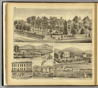 Residence of John A. Warden ... Sewickley, Pa. (with) Farm & res. of Lyman Stedman ... Brown's Island, Hancock Co., West Va. (with) Bakery & Confectionary, J.M. Weber, prop'r., ... East Liverpool, Ohio. (with) L.H. Oatman's Saw & Planing Mills, Rochester, Beaver Co., Pa. (with) Residence of Benjamin Musgrave, Remington, Beaver Co., Pa. (... compiled & drawn for the publishers by E.L. Hayes, assisted by E.F. Hayes, C.M. Beresford, assisted by S.A. Charpiot, F.L. Sanford, J.H. Sherman. Published by Titus, Simmons & Titus ... Phila. 1877 ... Printed by H.J. Toudy & Co. ... Oldach & Mergenthaler Binders ...)