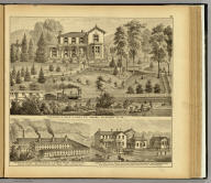 Residence of David R. Kerr, D.D., Osborn, Allegheny Co., Pa. (with) California Pottery ... East Liverpool, Ohio. (with) Lamb's Head Hotel ... East Liverpool, Ohio. (... compiled & drawn for the publishers by E.L. Hayes, assisted by E.F. Hayes, C.M. Beresford, assisted by S.A. Charpiot, F.L. Sanford, J.H. Sherman. Published by Titus, Simmons & Titus ... Phila. 1877 ... Printed by H.J. Toudy & Co. ... Oldach & Mergenthaler Binders ...)