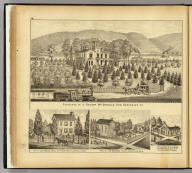 Residence of J. Sharp McDonald Esq., Sewickley, Pa. (with) Res. of Septimius Hall, New Martinsville, Wetzel Co. W. Va. (with) Res. of J.M. Goodwin, Sardis, Monroe Co., Ohio. (with) Res. & store of E.A. Barr, Sisterville (sic), Tyler Co., W. Va. (... compiled & drawn for the publishers by E.L. Hayes, assisted by E.F. Hayes, C.M. Beresford, assisted by S.A. Charpiot, F.L. Sanford, J.H. Sherman. Published by Titus, Simmons & Titus ... Phila. 1877 ... Printed by H.J. Toudy & Co. ... Oldach & Mergenthaler Binders ...)