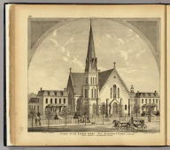 Church of the Sacred Heart, Rev. Bernard F. Ferris, in charge, East Liberty, Allegheny Co., Pa. (... compiled & drawn for the publishers by E.L. Hayes, assisted by E.F. Hayes, C.M. Beresford, assisted by S.A. Charpiot, F.L. Sanford, J.H. Sherman. Published by Titus, Simmons & Titus ... Phila. 1877 ... Printed by H.J. Toudy & Co. ... Oldach & Mergenthaler Binders ...)