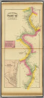 Upper Ohio River and Valley part VII, 96 to 116 miles below Pittsburgh, 351 to 371 miles above Cincinnati. (with) Steinersville, Belmont Co., O. (with) Sunfish, Clarington, Monroe Co., O. (... compiled & drawn for the publishers by E.L. Hayes, assisted by E.F. Hayes, C.M. Beresford, assisted by S.A. Charpiot, F.L. Sanford, J.H. Sherman. Published by Titus, Simmons & Titus ... Phila. 1877. Eng. by Worley & Bracher ... Printed by H.J. Toudy & Co. ... Oldach & Mergenthaler Binders ...)