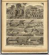 Freeman Brothers Sewer Pipe, Terra Cotta and Fire Brick Works, Jefferson Co., Ohio, Hancock Co., West Va. (with) Res. of James L. Freeman ... Hancock Co., West Virga. (with) Res. of Wm. B. Freeman ... Sloan's Sta., Jefferson Co., Ohio. (... compiled & drawn for the publishers by E.L. Hayes, assisted by E.F. Hayes, C.M. Beresford, assisted by S.A. Charpiot, F.L. Sanford, J.H. Sherman. Published by Titus, Simmons & Titus ... Phila. 1877 ... Printed by H.J. Toudy & Co. ... Oldach & Mergenthaler Binders ...)