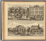 Residence of Thomas Hornbrook ... (with) Hornbrook's Block, Main Street. (with) Residence of John H. Hobbs ... (with) Residence of John L. Hobbs ... (all) Wheeling, West Va. (... compiled & drawn for the publishers by E.L. Hayes, assisted by E.F. Hayes, C.M. Beresford, assisted by S.A. Charpiot, F.L. Sanford, J.H. Sherman. Published by Titus, Simmons & Titus ... Phila. 1877 ... Printed by H.J. Toudy & Co. ... Oldach & Mergenthaler Binders ...)