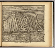 """""""La Belle,"""" country place of Thos. Hornbrook ... 4 1/2 miles east of the City of Wheeling, West Va. (... compiled & drawn for the publishers by E.L. Hayes, assisted by E.F. Hayes, C.M. Beresford, assisted by S.A. Charpiot, F.L. Sanford, J.H. Sherman. Published by Titus, Simmons & Titus ... Phila. 1877 ... Printed by H.J. Toudy & Co. ... Oldach & Mergenthaler Binders ...)"""