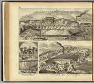 Residence and saw mill of Susan Harpold ... (with) Valley City Salt Company's Works ... (both) Hartford City, Mason Co., West Va. (with) Residence of E.C. Harpold, Hartford City, West Va. (... compiled & drawn for the publishers by E.L. Hayes, assisted by E.F. Hayes, C.M. Beresford, assisted by S.A. Charpiot, F.L. Sanford, J.H. Sherman. Published by Titus, Simmons & Titus ... Phila. 1877 ... Printed by H.J. Toudy & Co. ... Oldach & Mergenthaler Binders ...)