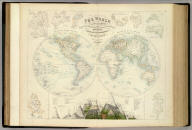 The World in Hemispheres with Comparative Views of the Heights of the Principal Mountains and Basins of the principal Rivers on the Globe. I. By G.H. Swanston. Published by A. Fullarton & Co. Edinburgh, London & Dublin.