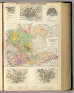 Northern and Central Germany. XIV. (with) The Northern & Central States of Germany. Drawn by Augustus Petermann, F.R.G.S. Engd. by J. Bartholomew, Edinr. (with) five inset maps: Hamburg, Coblente, Cologne, Dresden, and Leipsic. A. Fullarton & Co. London and Edinburgh.