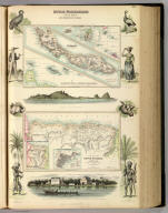 Dutch Possessions in South America and the West Indies. XXI. (with) seven inset maps: Saba, St. Martin, Curacao, On the North Coast of Venezuela, South America, Colonised Portion of Dutch Guayana or Surinam compiled from the Admiralty Surveys and the Dutch Government Map, Sketch Map shewing the Extent of the Colony, Plan of Paramaribo (Capital). A. Fullarton & Co. London, Edinburgh & Dublin.