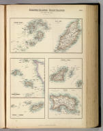 Channel Islands, Scilly Islands, and Isle of Man. By J. Bartholomew, F.R.G.S. XXVa. Drawn & Engraved by J. Bartholomew Edinr. F.R.G.S. A. Fullarton & Co. Edinburgh, London & Dublin.