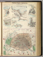 French Ports & Harbours, and Plan of Paris. By J. Bartholomew, F.R.G.S. XLV. (with) seven inset maps. A. Fullarton & Co. London and Edinburgh.