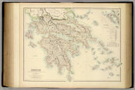 Greece Chiefly According To The English Admiralty Surveys & Keipert. Drawn by Augustus Petermann. F.R.G.S. Engraved by G.H. Swanston. (with) The Northern Ionian Islands. L. A. Fullarton & Co. Edinburgh, London & Dublin.