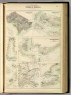 Southern Ports & Harbours in the United States. By J. Bartholomew, F.R.G.S. (with) eight maps. LXa. A. Fullarton & Co. London and Edinburgh.