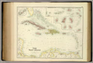 The West Indies. By G.H. Swanston, Edinr. (with) The Most Important Of The Lesser British Islands On An Enlarged Scale. LXI. Engd. by G.H. Swanston Edinburgh. A. Fullarton & Co. Edinburgh, London & Dublin.