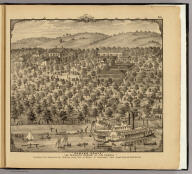 """""""Parker Grove,"""" the favorite resort of the people, Anderson Tw'p., Hamilton Co. ... Ohio. (... compiled & drawn for the publishers by E.L. Hayes, assisted by E.F. Hayes, C.M. Beresford, assisted by S.A. Charpiot, F.L. Sanford, J.H. Sherman. Published by Titus, Simmons & Titus ... Phila. 1877. Eng. by Worley & Bracher ... Printed by H.J. Toudy & Co. ... Oldach & Mergenthaler Binders ...)"""
