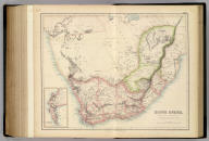 South Africa, From Official & other authentic Authorities. (with) The Peninsula Of The Cape on an enlarged Scale. LXXIII. Drawn & Engraved at Stanford's Geographical Establishment, 6 Charing Cross, London. A. Fullarton & Co. Edinburgh, London & Dublin.