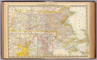 Rand, McNally & Co.'s Massachusetts. Rand, McNally & Co., Relief Plate Map Engr's., Chicago.