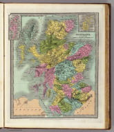 Scotland. (with) two inset maps Shetland Isles and Orkney Isles. Engd. & Printed by Illman & Pilbrow. Entered ... 1834, by Illman & Pilbrow ... New York.