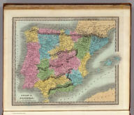 Spain & Portugal. Entered ... 1834, by Thos. Illman ... New York.