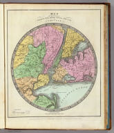 Map of the Country Twenty Five Miles Round The City Of New-York. Entered ... Novr. 11th in the year 1835 by Thomas Illman ... New York.