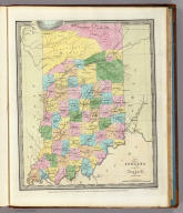 Indiana By David H. Burr New-York. Engd & Printed by Illman & Pilbrow. Entered ... 1833 by Illman & Pilbrow ... New York.