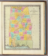 Map of the State of Alabama. By David H. Burr. Entered ... 1834 by Illman & Pilbrow ... New York.