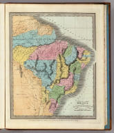 Brazil With Guiana & Paraguay. Entered ... 1834 by Thos. Illman ... New York.
