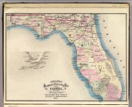 Cram's Rail Road & Township Map of Florida. Published by Geo. F. Cram. Proprietor of the Western Map Depot. 66, Lake St. Chicago Ills. 1875.